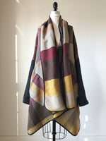 thistle hill wool and cotton herringbone flannel cocoon wrap
