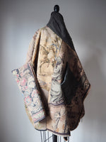 tapestry and embroidery cocoon coat