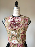 19th century hand printed floral top