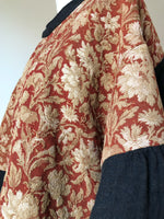 19th century cotton jacquard tapestry floral big shirt