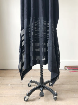 black jersey and silk chiffon #2