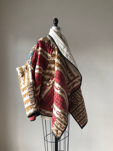 bargello quilted samurai cocoon coat