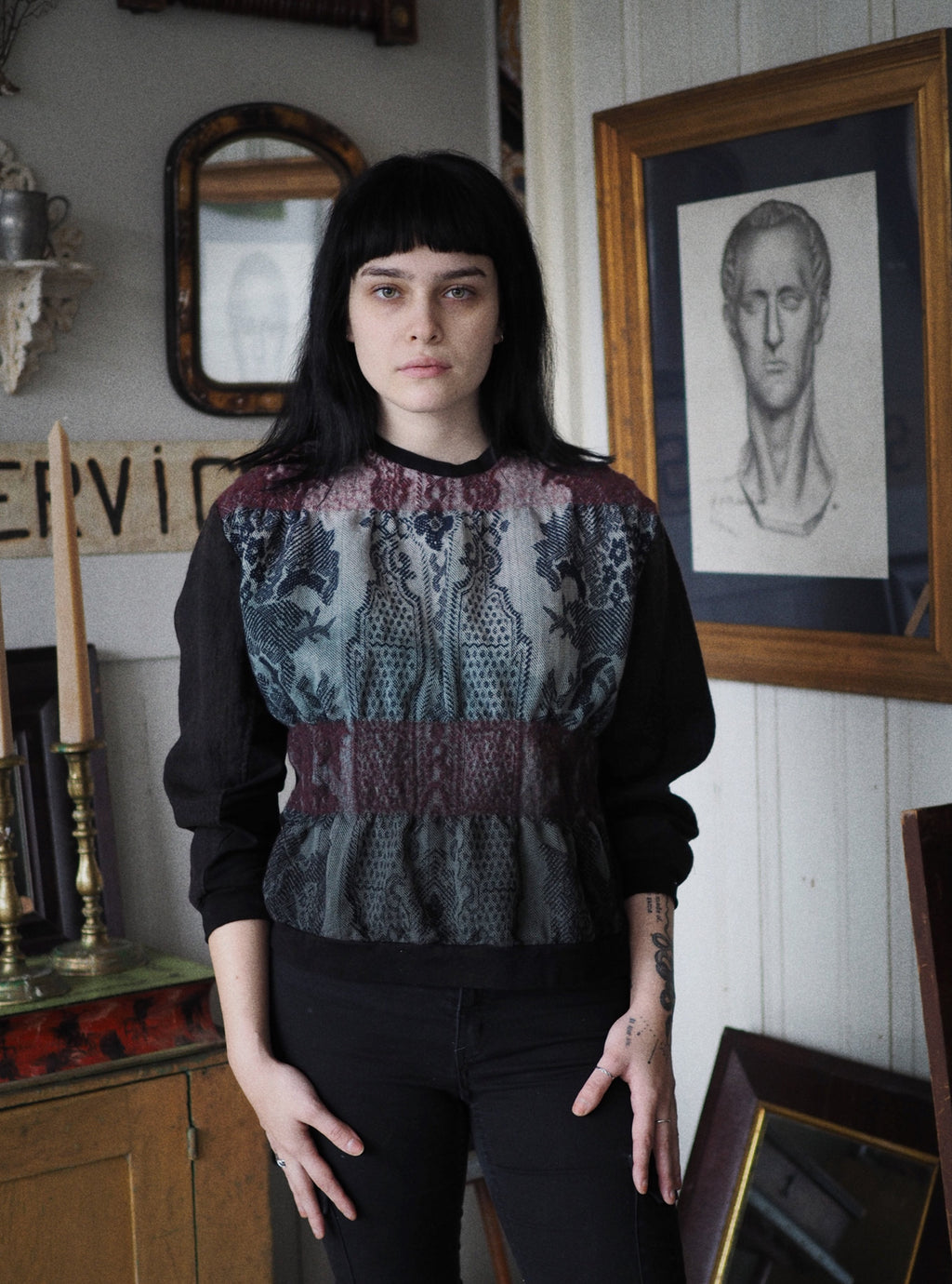 felted waist Lincoln sweatshirt