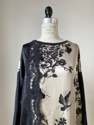 insect and flower tunic