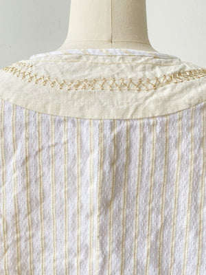 hand embroidered thistle hill cotton peasant top