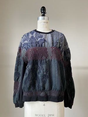 super felted hand dyed hand loomed lincoln jacquard sweatshirt