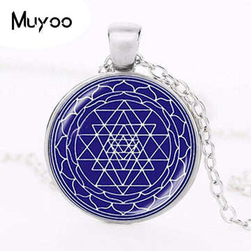 Pendant Necklaces - Sri Yantra Positivity Pendant Necklace