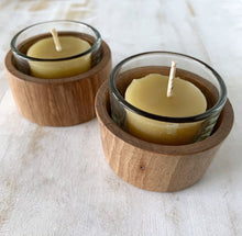 Load image into Gallery viewer, collombatti naturals wooden tea light candle holders