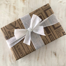 Load image into Gallery viewer, Collombatti naturals gift wrapped box with white ribbon