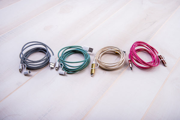 Tech Candy Dynamic Duo Woven USB Cables