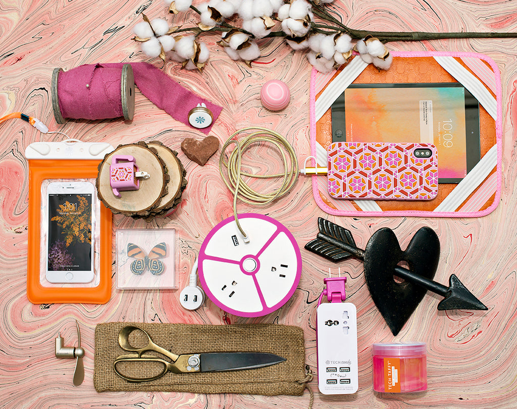 Tech Candy Pink/Orange Hues Product Grouping