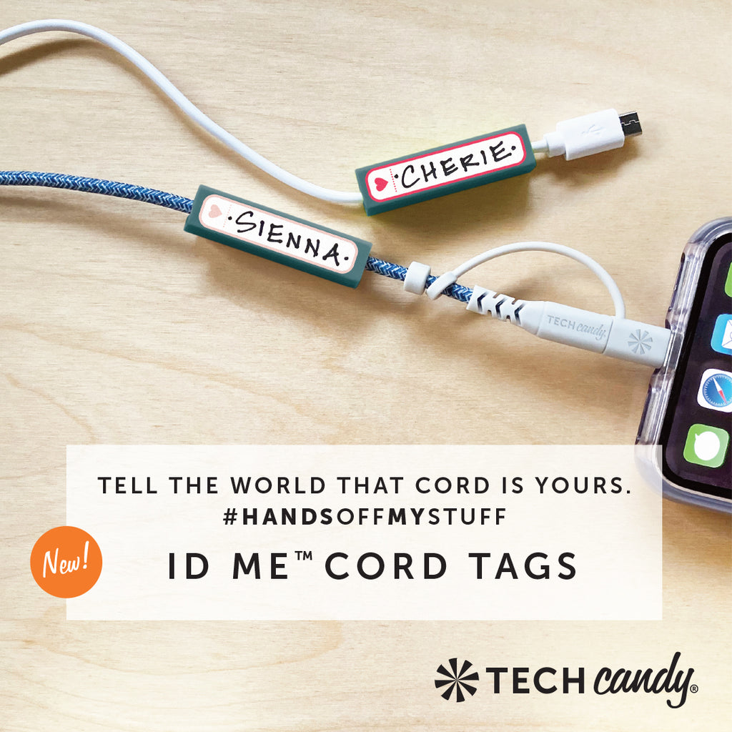 ID Me Charging Cord ID Tag Set in use
