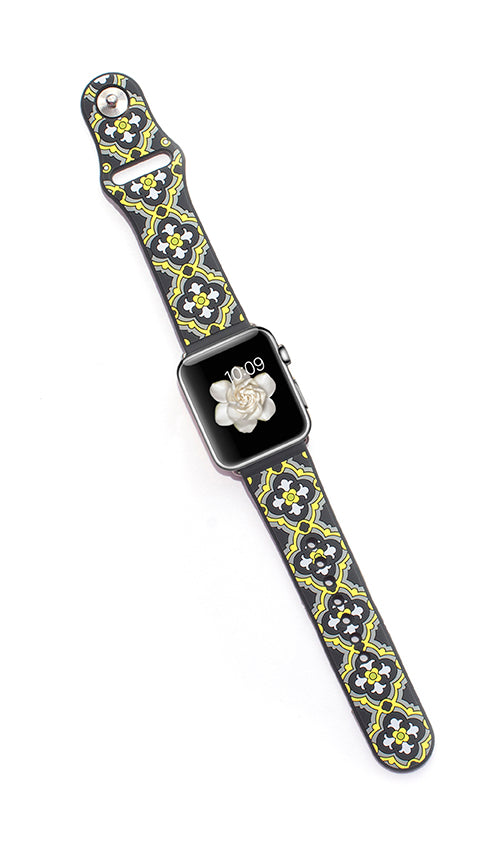 Kaleidoscopic Multi-Faceted Apple Watch Band- Sunshine/Slate