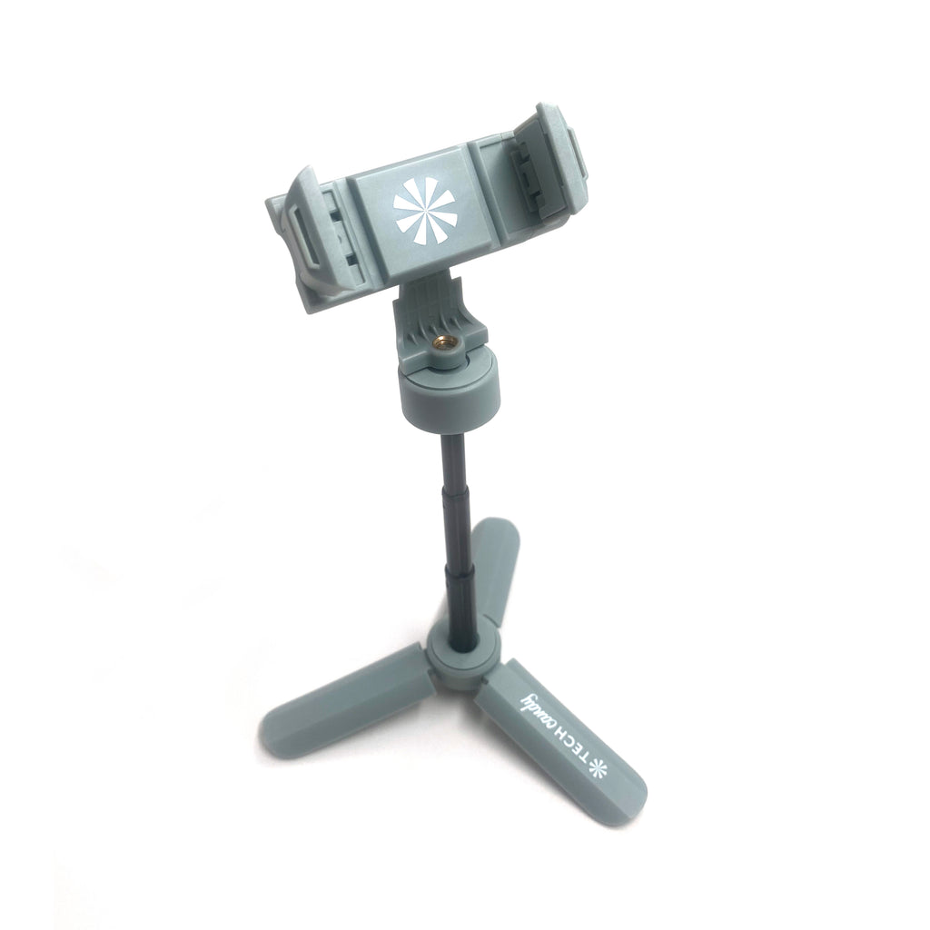 Stand and Deliver Expanding Phone Tripod in Light Gray