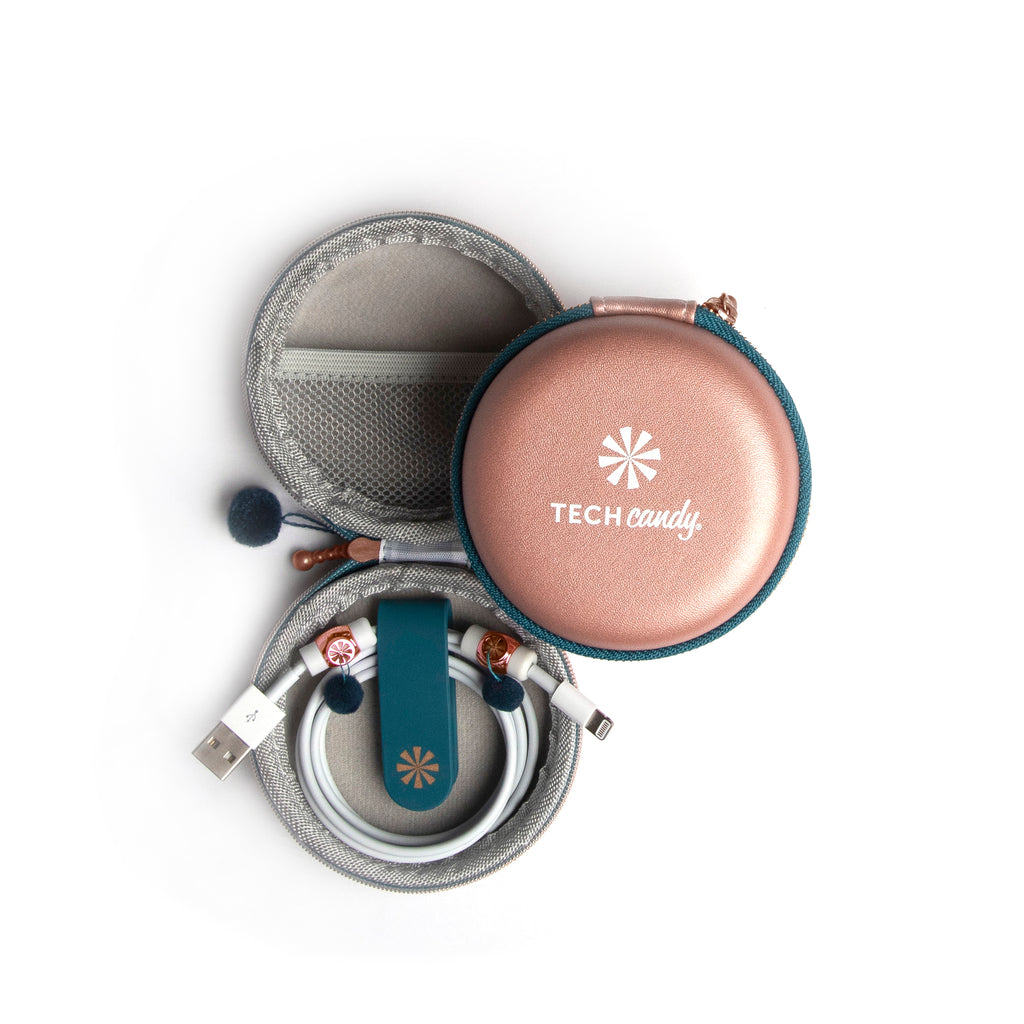 Cord Order 4-Piece Gift Set : Rose Gold/Navy