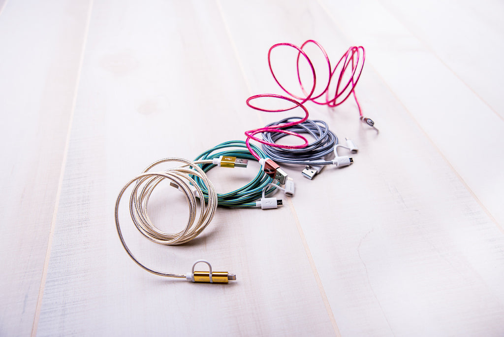 4 Tech Candy Dynamic Duo Woven USB Cables