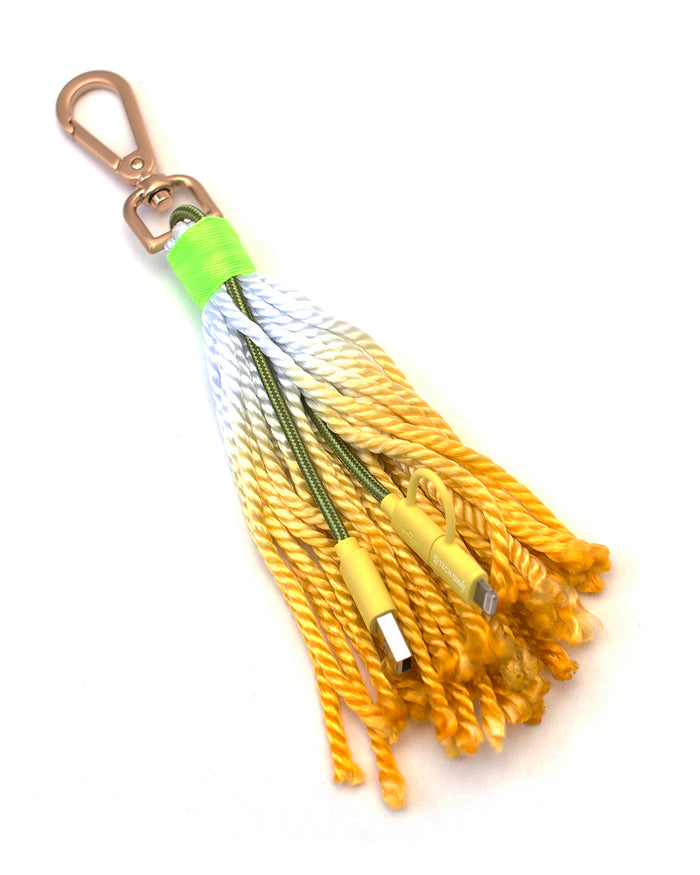 The Fringe Benefit Woven USB Cable + Tassel : Yellow
