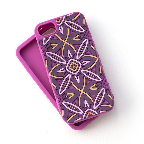 Kaleidoscopic Multi-Faceted Case-Bright Pink/Purple (iPhone 6/6S/7)