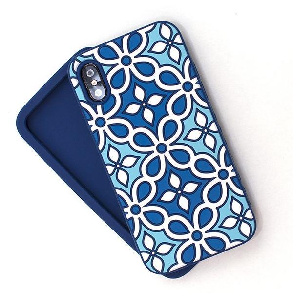 Kaleidoscopic Multi-Faceted Case (iPhone X) Power Aqua/Deep Blue