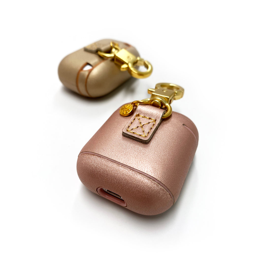 Mixed Metals AirPods Case in Rose Gold; Mixed Metals AirPods Pro Case in Gold