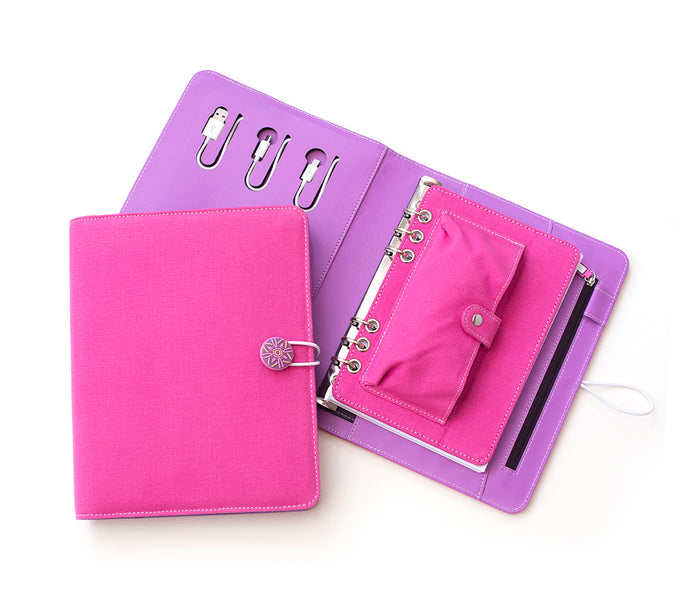 Tech Candy Power Planner Bright Pink/Purple