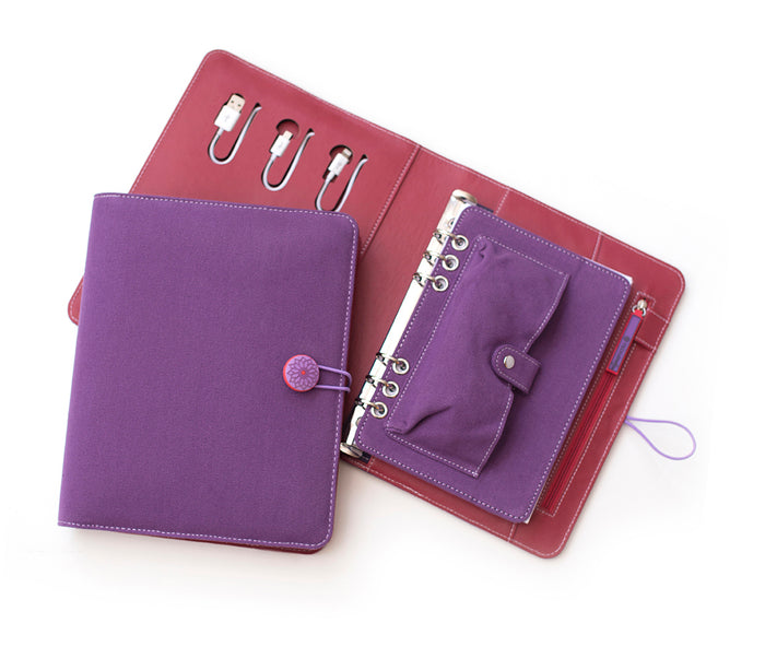 Tech Candy Power Planner Dark Purple/Red