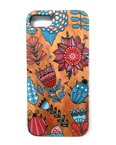 Woodie Case Doodle Bug (iPhone 7 Only)