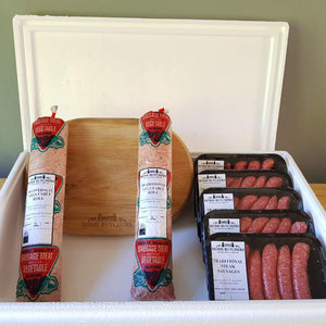 Veggie Roll and Steak Sausages by Subscription