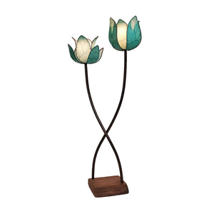 Eangee Twin Lotus Large Floor Lamp