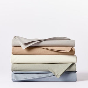 Coyuchi 300 TC Organic Percale Fitted Sheet