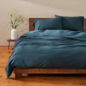 Coyuchi Organic Crinkled Percale Duvet Cover