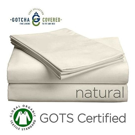 "Gotcha Covered Pure Collection Organic Sheets Set 11"" or 18"""