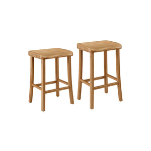 "Greenington Tulip 30"" Bar Height Stool (Box of 2), Caramelized"