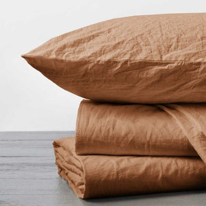 Coyuchi Organic Crinkled Percale Pillowcase Set