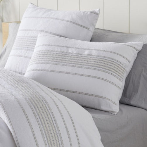 Coyuchi Rippled Stripe Organic Duvet Cover