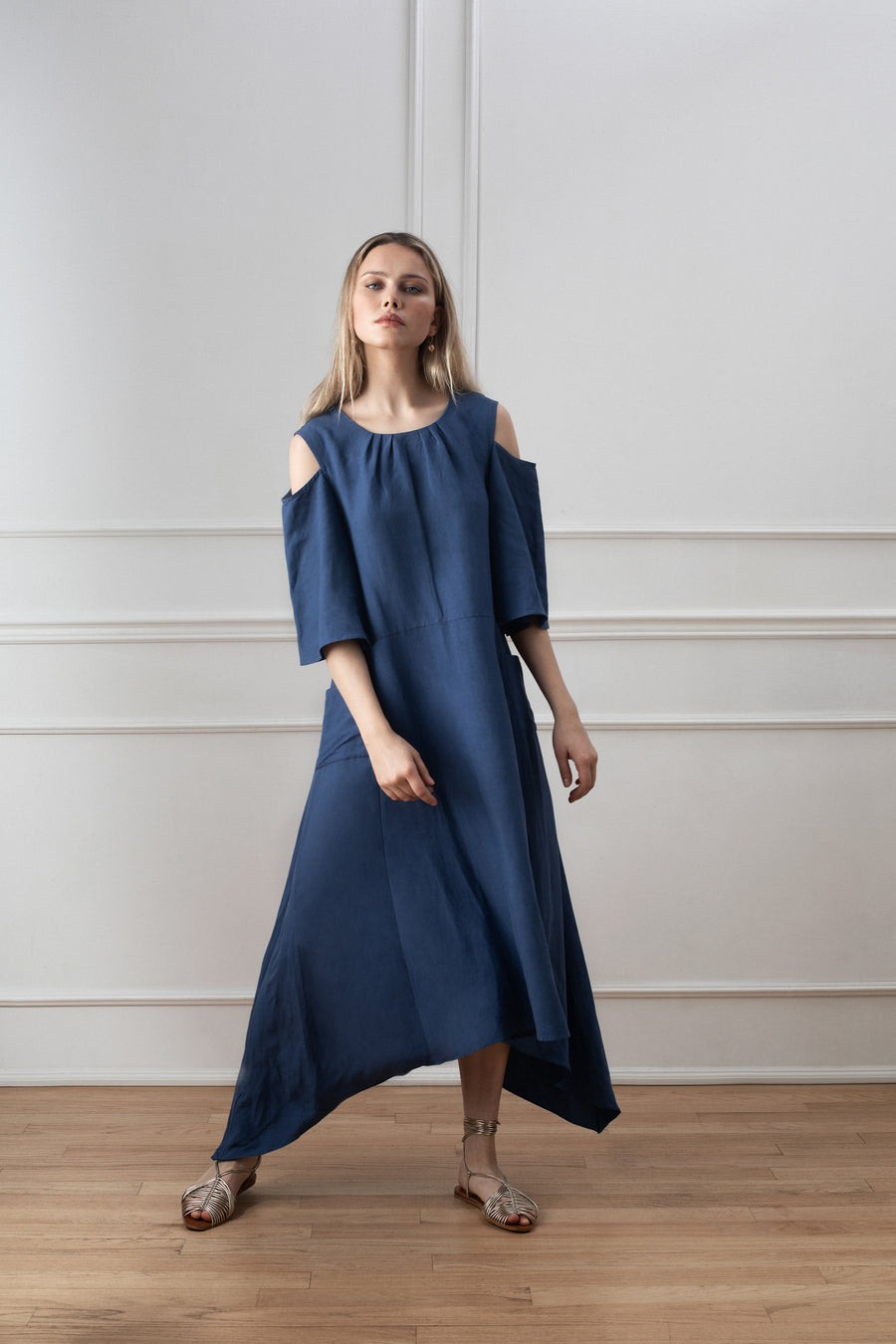 Candice Shift Dress - Dusty Blue Linen