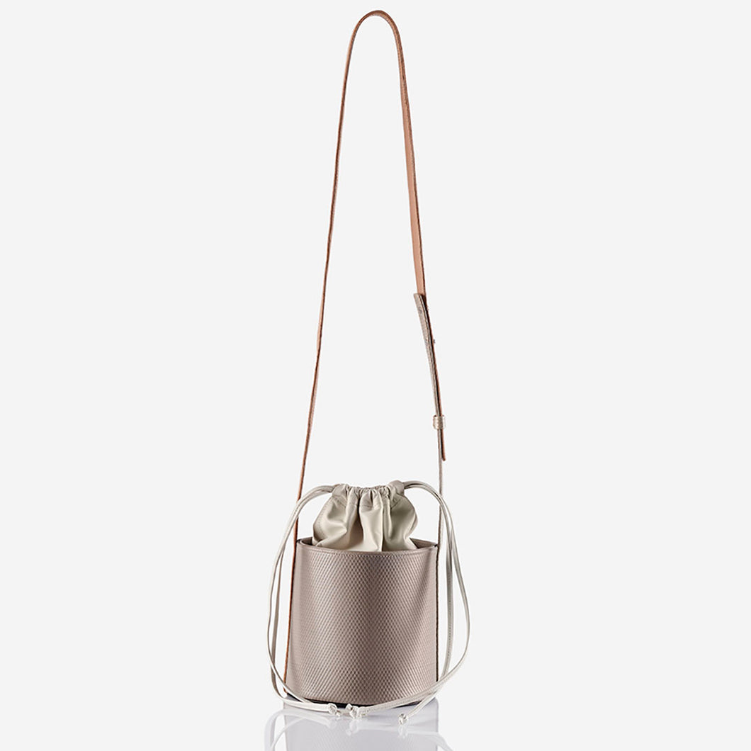Kaia - Snakeskin Effect Bucket Bag