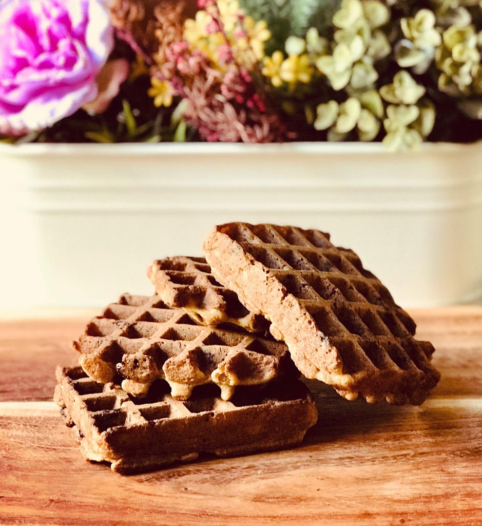 Low Carb Waffles with Almonds & Oats