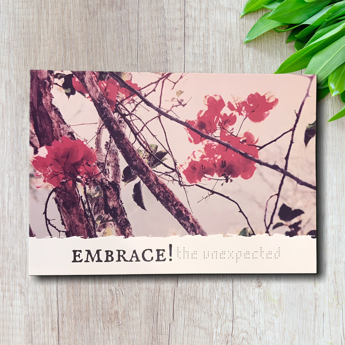 Embrace the unexpected A5 Postcard Print