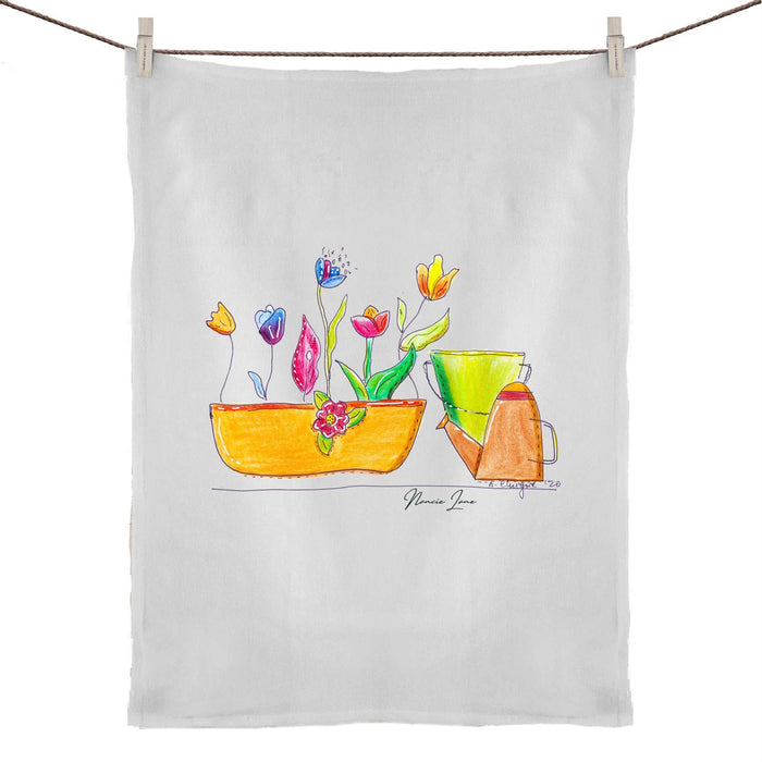 Garden Bliss 50% Linen 50% Cotton Tea Towel