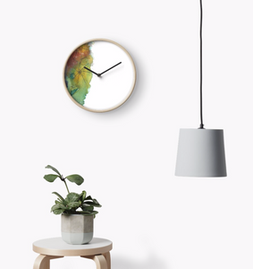 Calming Meadow Clock