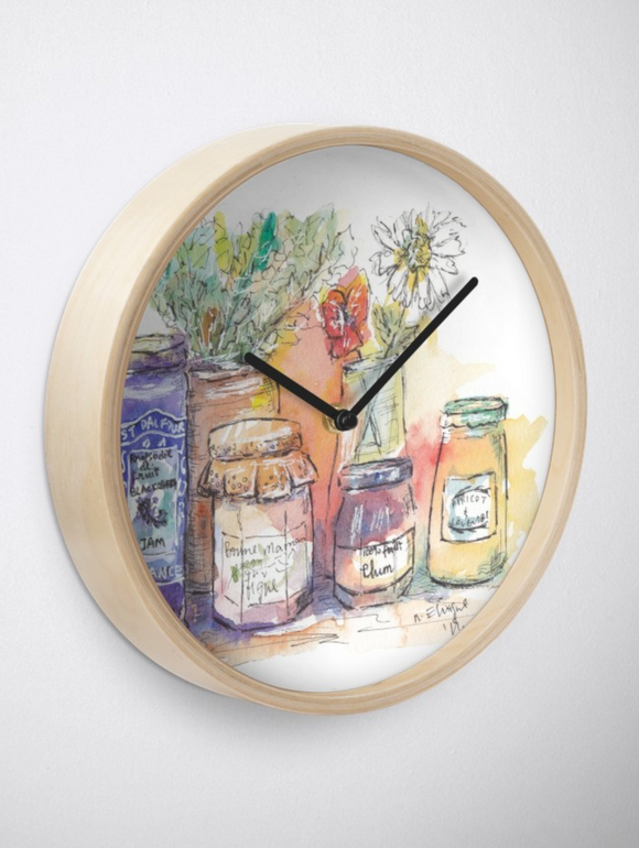French Homemade Jams  Clock