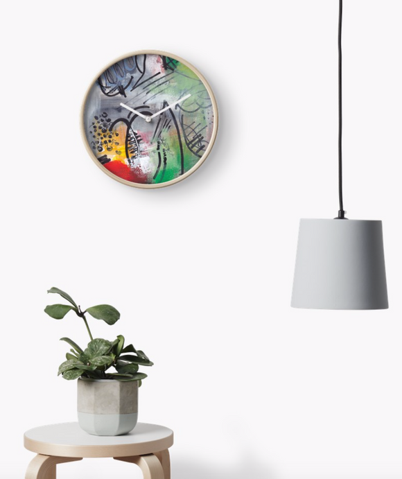 Abstract Tulips Clock - Nancie Lane