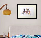 African Mothers and Babies Art Print - Nancie Lane