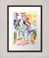 African Market Day Art Print - Nancie Lane