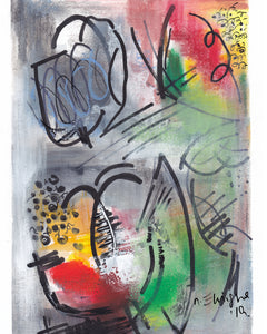 Tulips in Abstract Art Print - Nancie Lane
