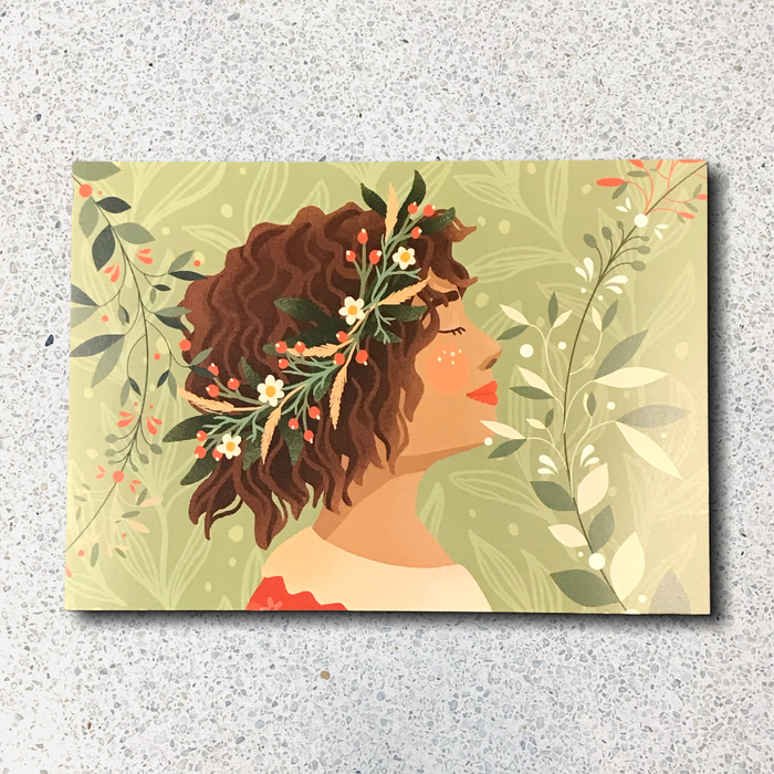 Breathe in Nature A5 Postcard Print