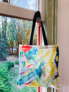 Breaking Forth Linen All Over Print Tote Bag