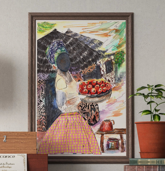 Beautiful African Petty Trader Art Print - Nancie Lane