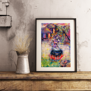 Sunset Feast Art Print